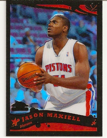 Jason Maxiell 2005-06 Topps Chrome Black Refractor RC /399