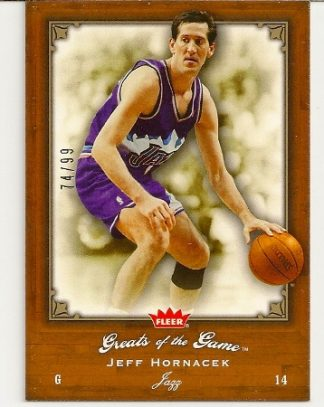 Jeff Hornacek 2005-06 Fleer Greats of The Game Insert Card /99