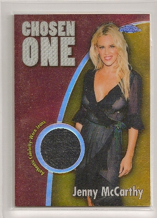 Jenny McCarthy 2005-06 Topps Chrome Chosen One Jean Relics Refractor
