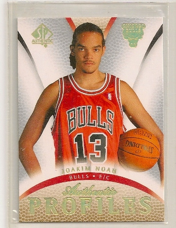 Joakim Noah 2007-08 SP Authentic Profiles Rookie Card