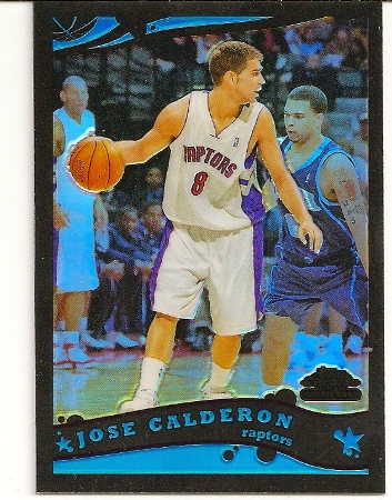 Jose Calderon 2005-06 Topps Chrome Black Refractor RC /399