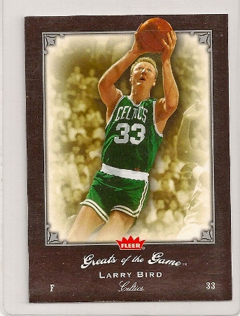 Larry Bird 2005-06 Fleer Greats of The Game Card #52