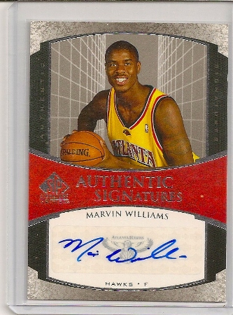 Marvin Williams 2005-06 SP Signature Autograph Rookie Card