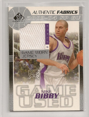Mike Bibby 2003-04 SP Game Used Jersey Basketball Card