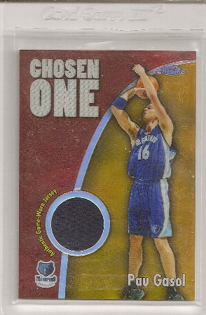 Pau Gasol 2005-06 Topps Chrome Chosen One Insert Jersey Card