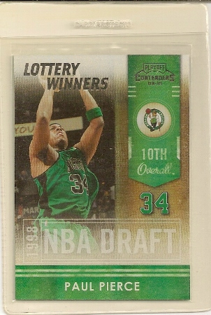 Paul Pierce 2009-10 Playoff Contenders Lottery Winners Insert Card