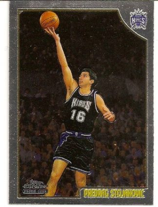 Predrag Stojakovic 1998-99 Topps Chrome Rookie Card