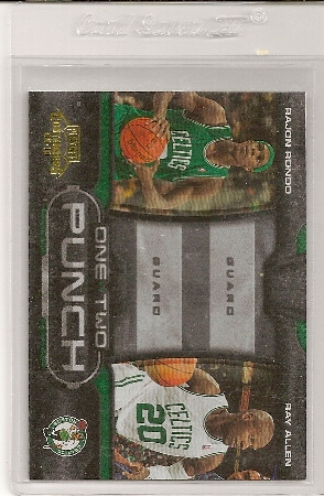 2009-10 Playoff Contenders One Two Punch Rajon Rondo And Ray Allen Insert