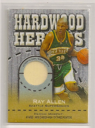 Ray Allen 2005-06 Topps Chrome Hardwood Heroics Shorts Card