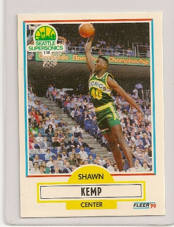 Shawn Kemp 1990-91 Fleer Rookie Card
