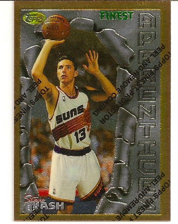 Steve Nash 1996-97 Topps Finest Unpeeled Rookie Card
