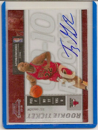 Taj Gibson 2009-10 Playoff Contenders Autograph Rookie Card