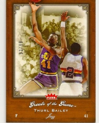 Thurl Bailey 2005-06 Fleer Greats of The Game Insert Card /99