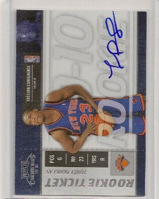 Toney Douglas 2009-10 Playoff Contenders Rookie Ticket Auto Card