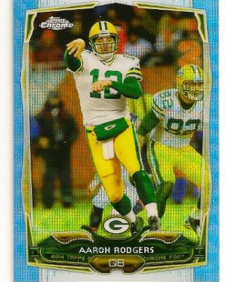 Aaron Rodgers 2014 Topps Chrome Blue Refractor Card
