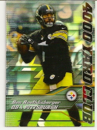 Ben Roethlisberger 2014 Topps Chrome 4,000 Yard Club Card