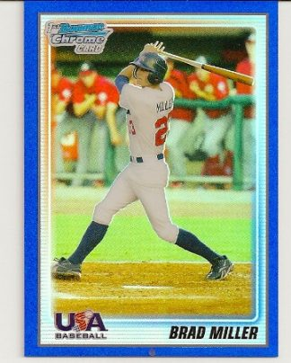 Brad Miller 2010 Bowman Chrome Blue Refractor Rookie Card