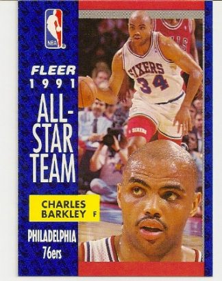 Charles Barkley 1991-92 Fleer All-Star Card