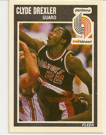Clyde Drexler 1989-90 Fleer Card