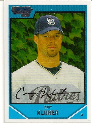 Cory Kluber 2007 Bowman Chrome Draft Rookie Card