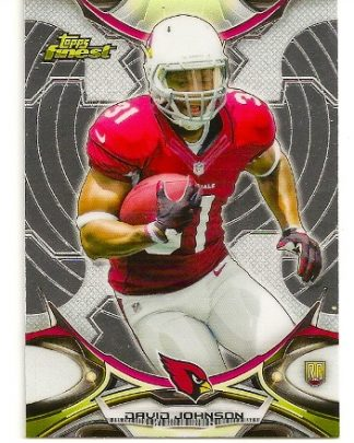 David Johnson 2015 Topps Finest Rookie Card