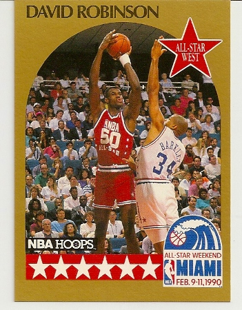 David Robinson 1990-91 Hoops All-Star SP Card
