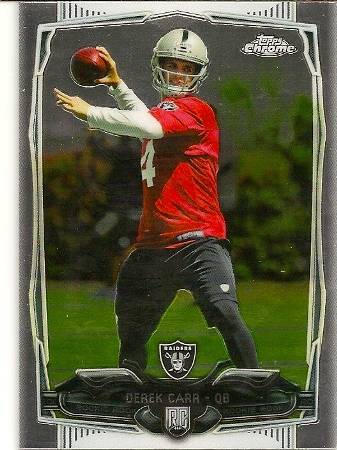 Derek Carr 2014 Topps Chrome Rookie Card