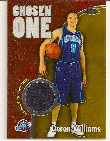 Deron Williams Topps Chrome Chosen One Patch Rookie Card