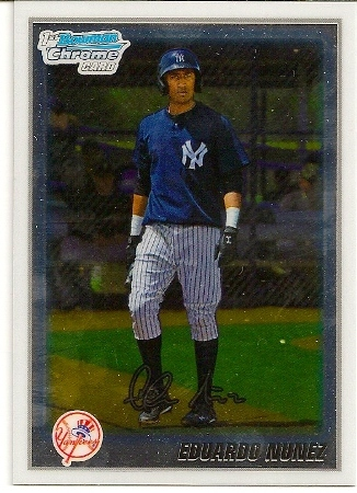 Eduardo Nunez 2010 Bowman Chrome Rookie Card
