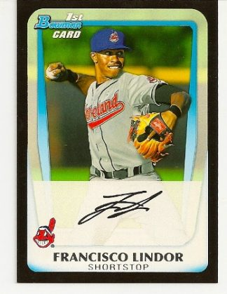 Francisco Lindor 2011 Bowman Draft Picks & Prospects Rookie Card