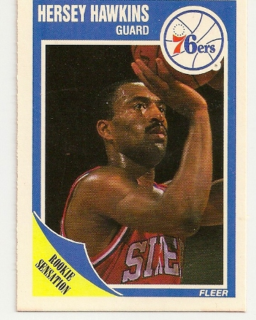 Hersey Hawkins 1989-90 Fleer Rookie Card