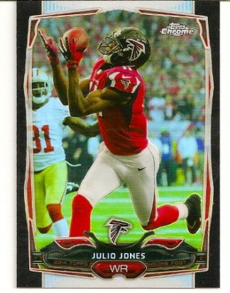 Julio Jones 2014 Topps Chrome Black Refractor Card