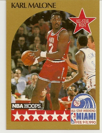 Karl Malone 1990-91 Hoops All-Star SP Card