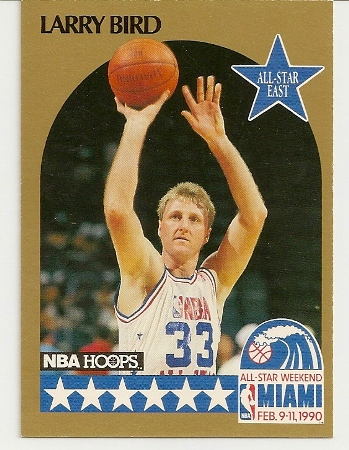 Larry Bird 1990-91 Hoops All-Star SP Card