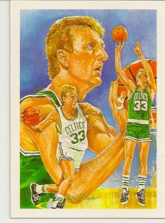 Larry Bird 1990-91 Hoops Checklist Card