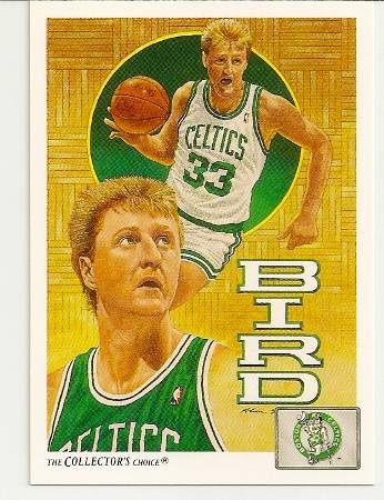 Larry Bird 1991-92 Upper Deck Checklist Card