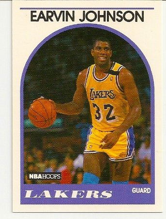 Magic Johnson 1989-90 Hoops Card