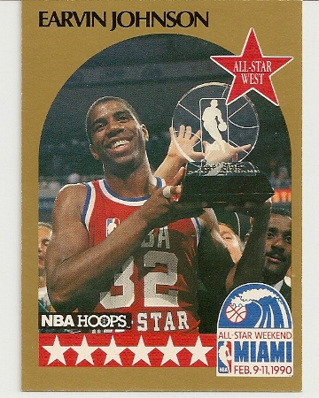 Magic Johnson 1990-91 Hoops All-Star SP Card