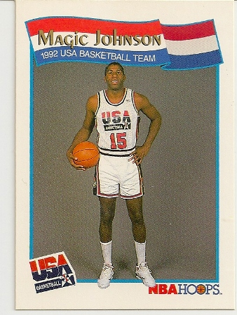 Magic Johnson 1991-92 Hoops USA McDonald's Card
