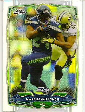 Marshawn Lynch 2014 Topps Chrome Refractor Card
