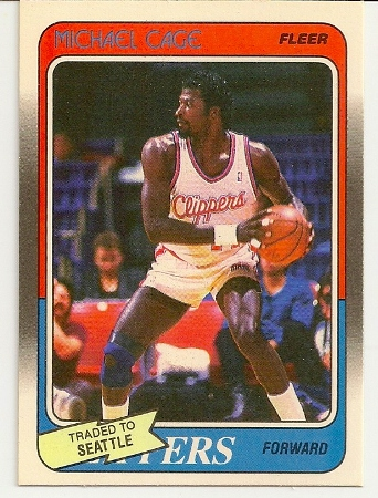 Michael Cage 1988-89 Fleer Card