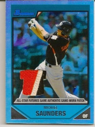 Michael Saunders 2007 Bowman Draft All-Star Futures Game-Used Patch