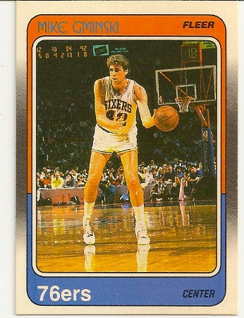 Mike Gminski 1988-89 Fleer Card