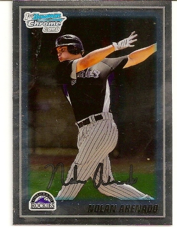 Nolan Arenado 2010 Bowman Chrome Rookie Card