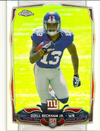 Odell Beckham, Jr 2014 Topps Chrome Refractor Rookie Card