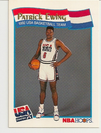 Patrick Ewing 1991-92 Hoops USA McDonald's Card