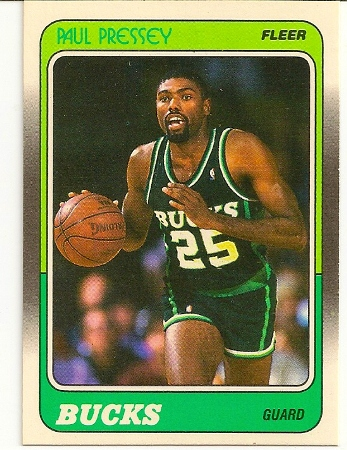 Paul Pressey 1988-89 Fleer Card