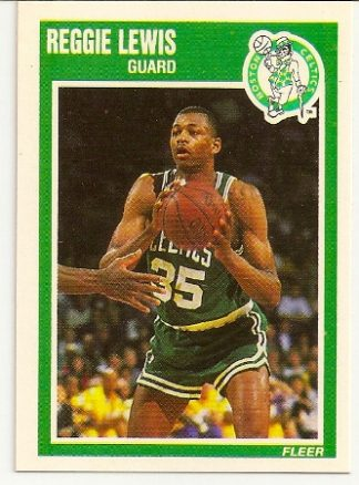 Reggie Lewis 1989-90 Fleer Rookie Card
