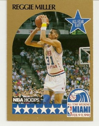 Reggie Miller 1990-91 Hoops All-Star SP Card