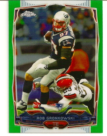 Rob Gronkowski 2014 Topps Chrome Green Refractor Card